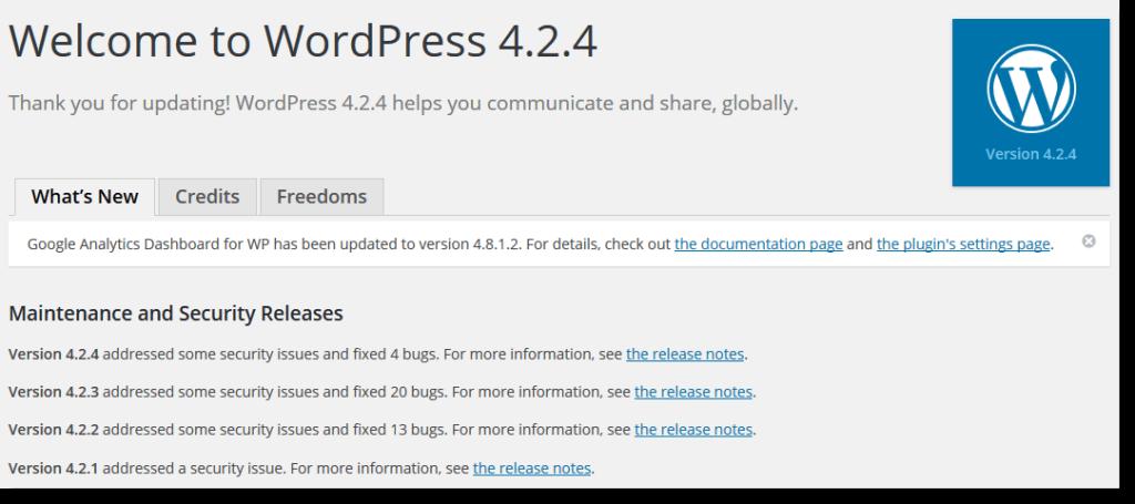 Como Actualizar WordPress Pelo Painel de Controle