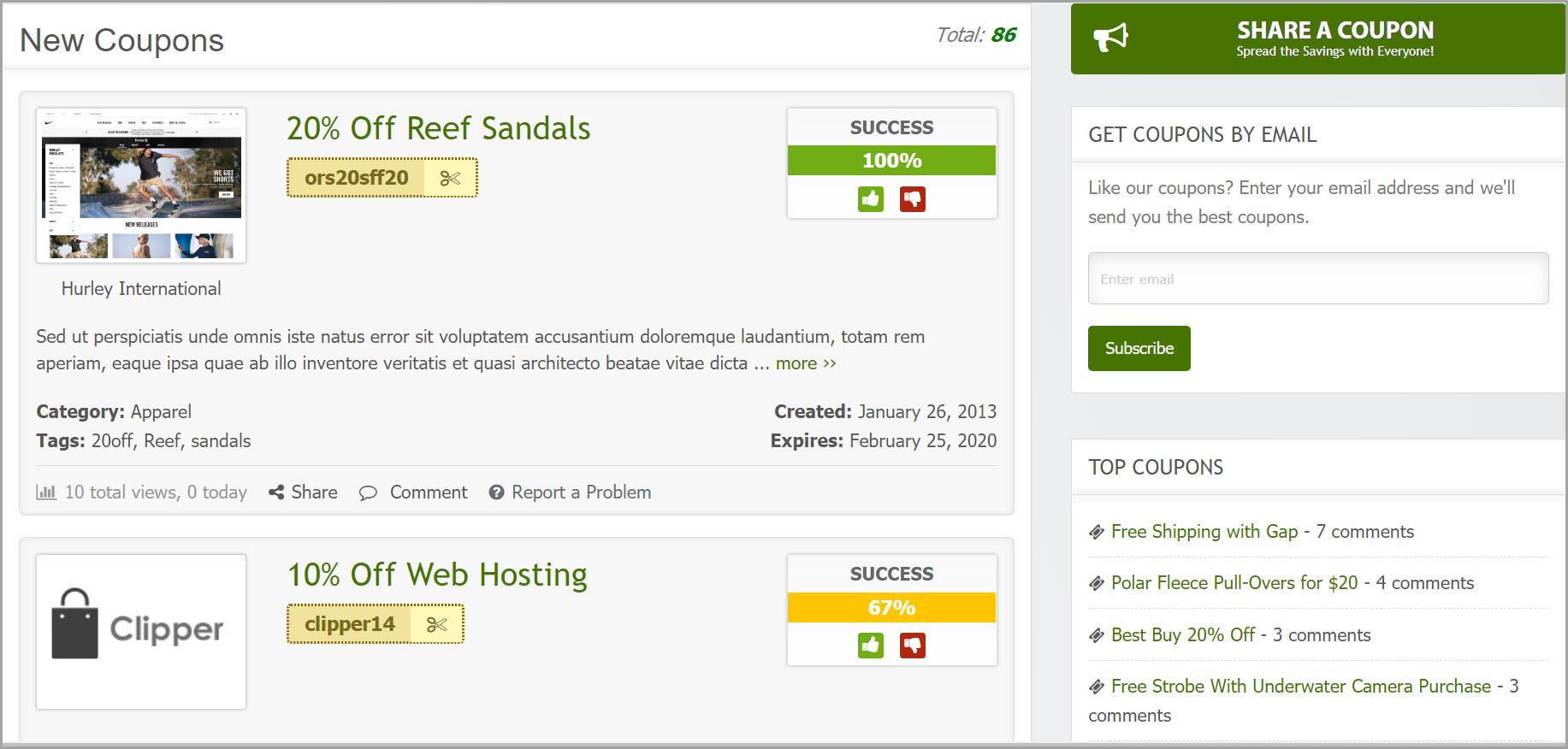 TIpos de Websites com WordPress